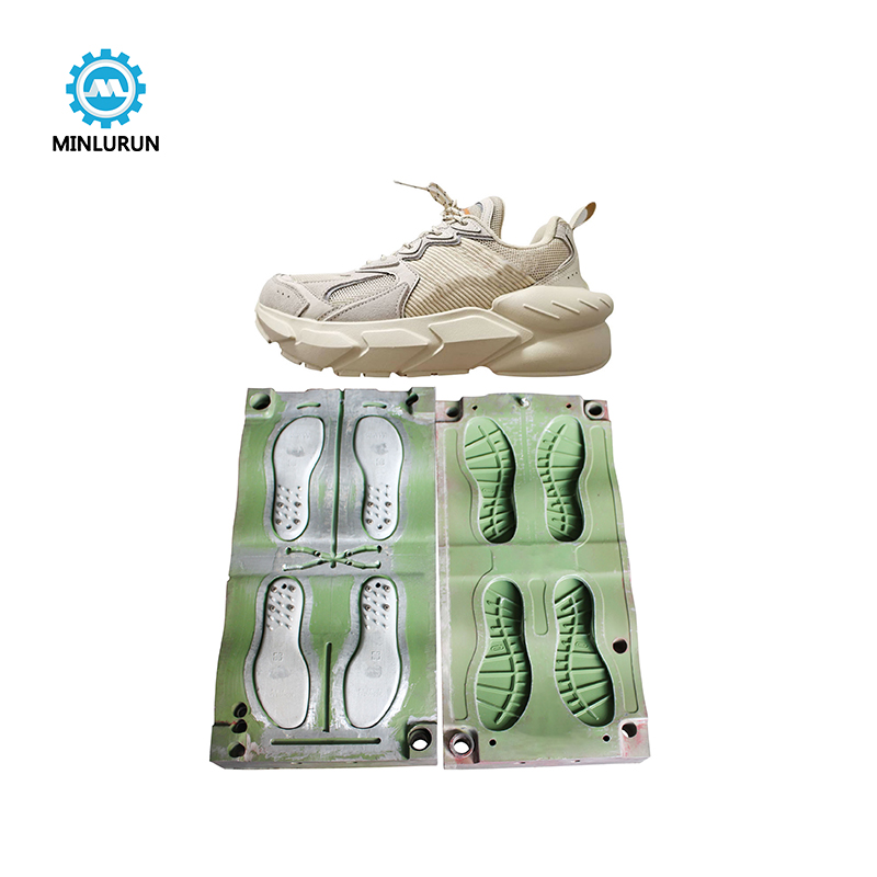 New Design Shoe Product EVA Outsole Injection Mold With Double Color EVA Sole Mould Making
