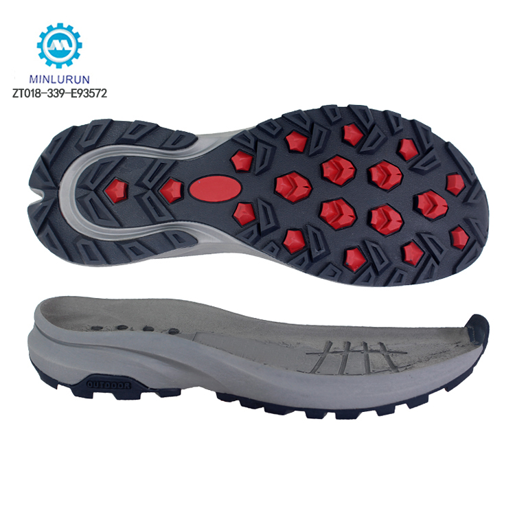 New Fashion EVA+TPR Material Durable Anti-Slip Outdoor Shoe Sole For Hiking Shoes Casual Shoes