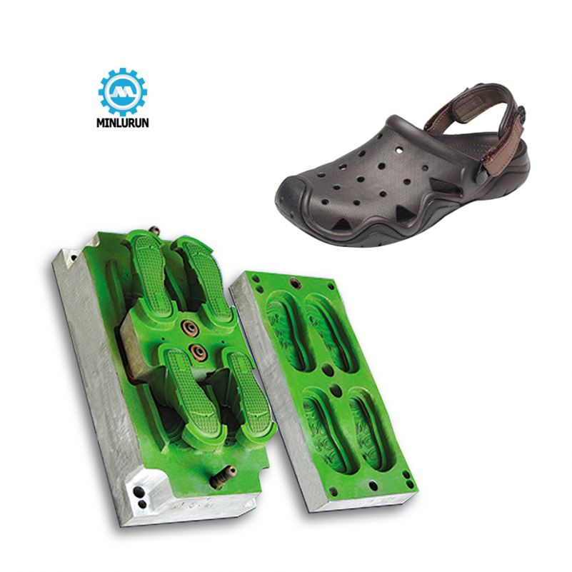 Minlurun Brand 2 Colors EVA Injection Shoe Mold Made By Cnc Making