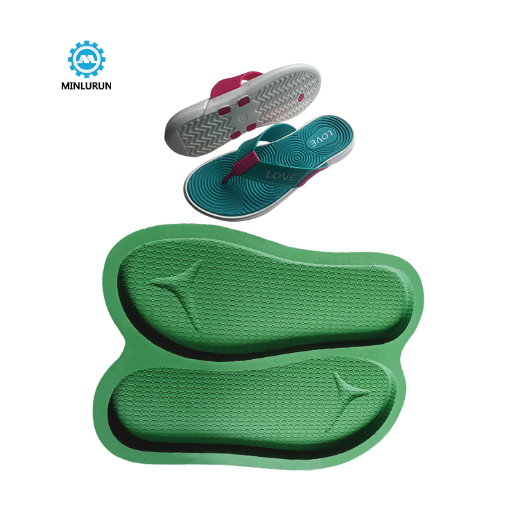 Slipper Embossing Insole Mold Fashion Eva Sole Mould For Summer Shoes