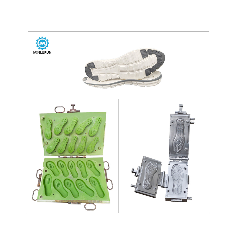 Heatering Mould For Outsole High Quality Breathable Soft Molded Eva Tpr Polyester Flat Foot Round Hole Massage Foam Footwear Die